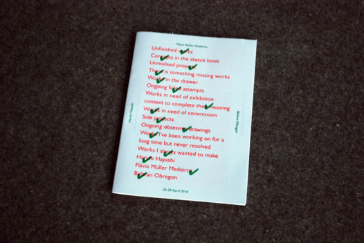 Riso book made during the opening